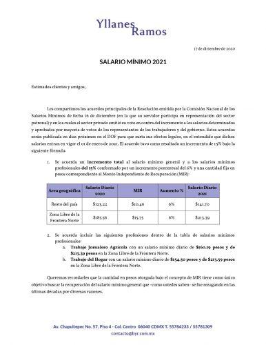 Circular Incremento Salario Minimo 2021 Page 0001