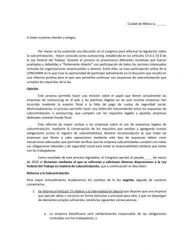 reforma de subcontratacion 2020 1